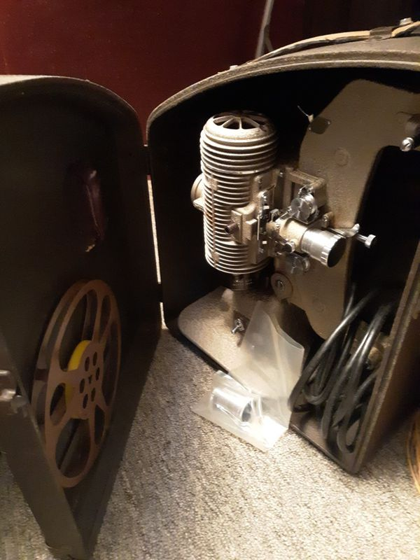 8 MM projector in carry case