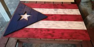 Puerto Rican flag hand made wood decoration for Sale in Lebanon, PA