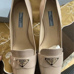 Prada Logo Plaque Block Heel Loafer Pumps for Sale in Farmington, CT