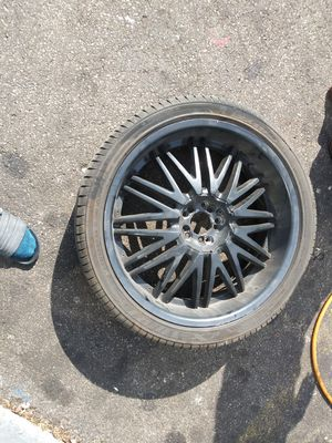 22inch black rims with tires for Sale in Valley View, OH