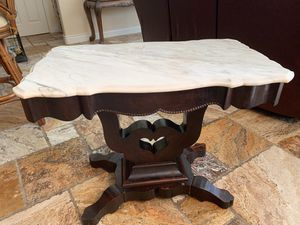 Stunning Antique Marble Side Table for Sale in Bradenton, FL