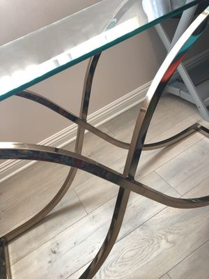 Gold glass table for Sale in Los Angeles, CA
