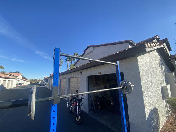 *RACK ONLY* Fuel Squat Rack + Bench Press + Blue Black RARE Home Gym + Pull Up Bar