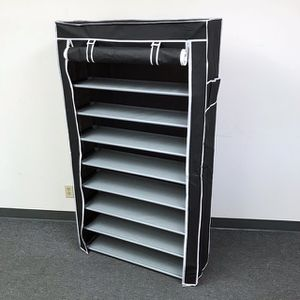 """(NEW) $25 each 10-Tiers 45 Shoe Rack Closet with Fabric Cover Storage Organizer Cabinet 36x12x62"""" for Sale in South El Monte, CA"""