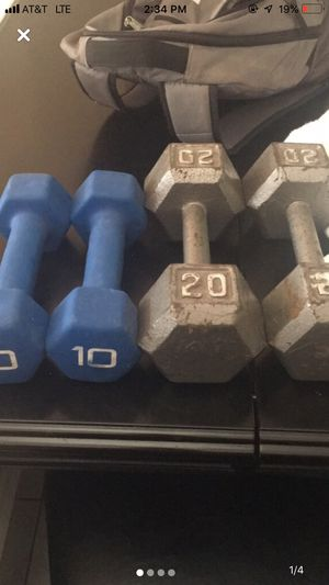 DUMBBELLS 2sets!! 20's and 10's! Price negotiable for Sale in Brick Township, NJ