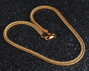 """6MM 20"""" Men 18k Gold Plated Miami Cuban Curb Link Chain Necklace for Sale in Land O' Lakes, FL"""