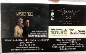 Thompson Square Tickets for Sale in Fort Myers, FL