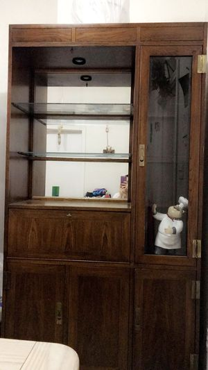 Brown wooden kitchen cabinet for Sale in San Francisco, CA