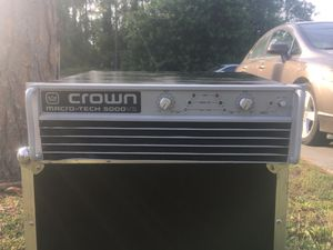 Crown macro tech 5000VZ power amplifier for Sale in Port St. Lucie, FL