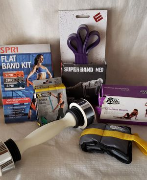 Ladies Workout Bands, Weights and Shaker Dumbell for Sale in Houston, TX