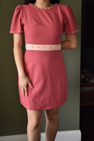 Hot Pink Dress w Pearl Detail (XS) for Sale in Richardson, TX