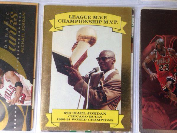 "GOLD Michael Jordan ""World Champions"" basketball card"