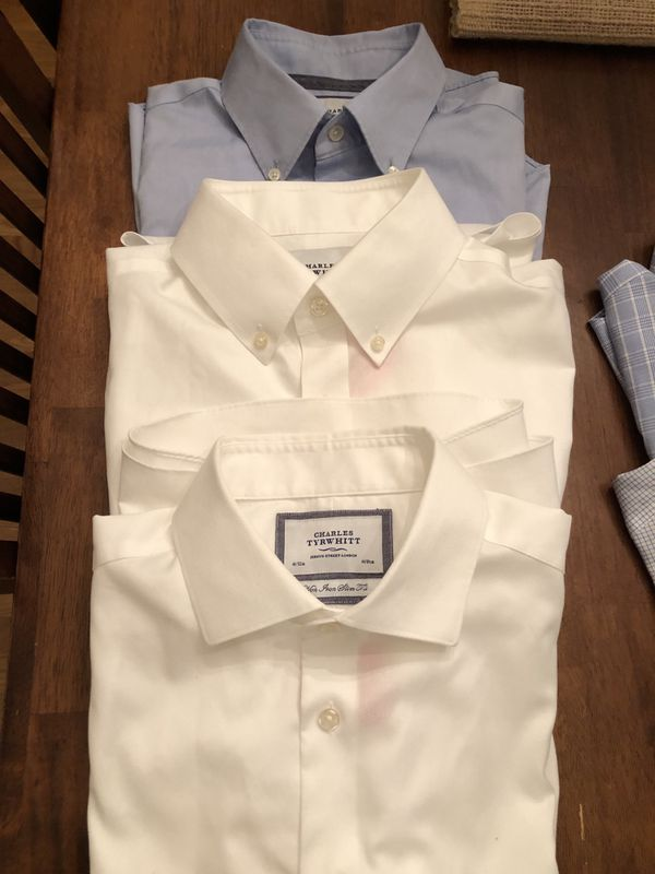 Lot of 8 Charles Tyrwhitt Dress Shirts Size 16/32-33
