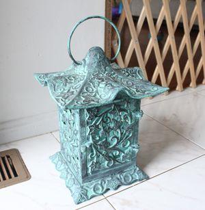Metal Turquoise Candle Lantern for Sale in Manassas, VA