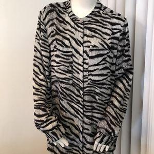 Michael Kors zebra print blouse for Sale in Fort Lauderdale, FL
