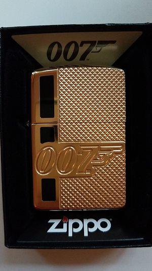 Zippo bond bt 007 gun logo high polished brass armor 29860 for Sale in Los Angeles, CA