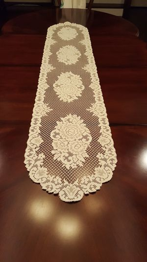 Vintage Lace runner mint condition 71x14 for Sale in Murfreesboro, TN