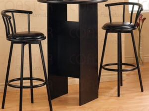 New!! Set of 2 Barstool,Kitchen stool,dining stool,Barstool, Black, Table not included for Sale in Phoenix, AZ