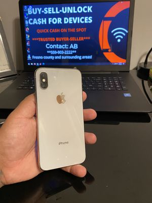 iPhone XS 256gb Factory unlocked Silver for Sale in Selma, CA