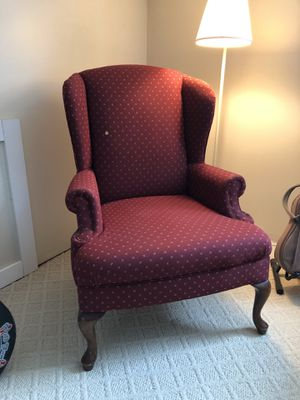 Red Wingback Chair for Sale in Maple City, MI