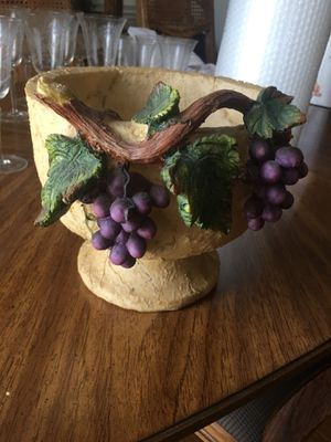 SET of 3 ceramic fruit bowls. I had them on top of my kitchen cabinets for decoration but we've changed decor and color scheme. for Sale in Fuquay Varina, NC