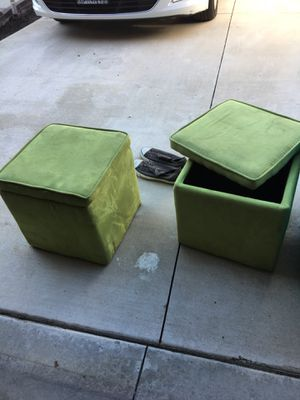 Two furniture box benches ottomans $25 for Sale in San Dimas, CA