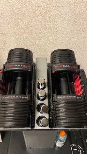 Powerblock dumbbells EXP 5-90 lbs for Sale in Chula Vista, CA