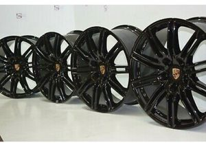 "21"" Porsche Cayenne BLACK 2014 2015 2016 2017 2018 Factory OEM Wheels Rims for Sale in Solana Beach, CA"