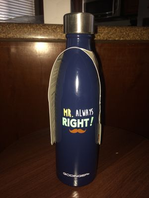 Mr always right mustache stainless Steele water bottle for Sale in Mesa, AZ