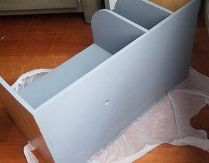 Handmade brand newly painted gray nightstand w dividing shelf for Sale in Glendora, CA