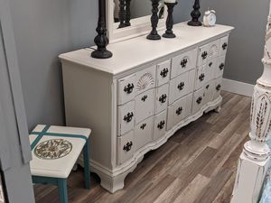 Solid Beautiful 9 drawer dresser with mirror for Sale in Glen Allen, VA