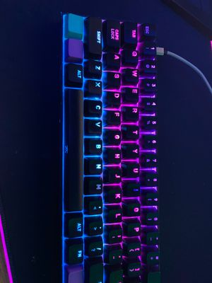 ANNE PRO 2 MECHANICAL RGB GAMING KEYBOARD KALIH BOX WHITE SWITCHES WILL TRADE FOR APEX PRO for Sale in West Springfield, VA