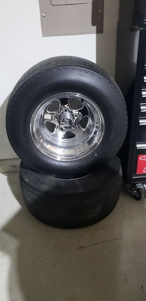 2 wheels and tires 15x10 Cragars for Sale in Fort Worth, TX