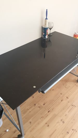Black glass computer desk!! for Sale in Kingsport, TN