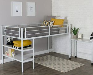 Walker Edison Twin Metal Loft Bed & Desk - Brand New in Box - White for Sale in Sioux Falls, SD