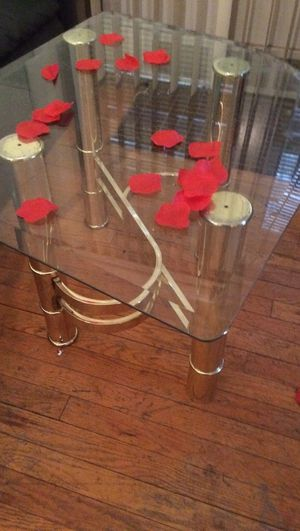 2 Nice Glass Tables with brass stand for Sale in Detroit, MI