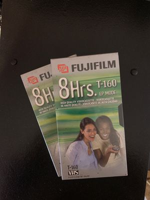 Lot Of 2 Fujifilm 8 Hrs Standard High Quality T-160 Blank Vhs Video for Sale in Long Beach, CA
