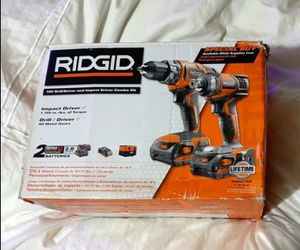 Ridgid 18V Lithium-Ion Drill / Impact Driver Combo Kit for Sale in Seattle, WA