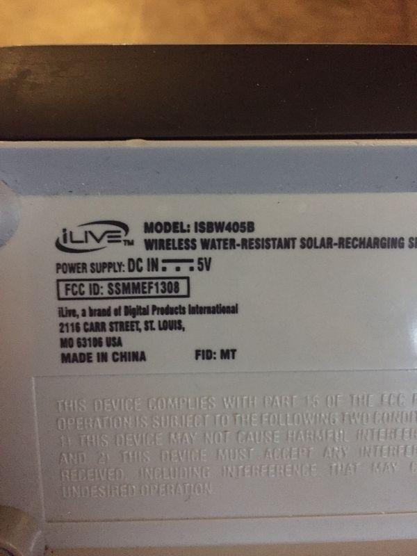 ILive Bluetooth speaker $20 FIRM