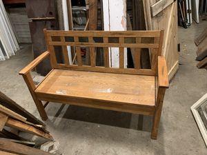 Wooden Bench w Storage for Sale in Bellingham, WA