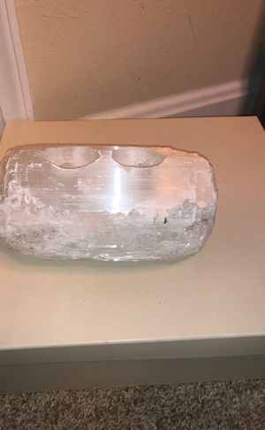 Homegoods crystal quartz candle holder for Sale in Rockville, MD