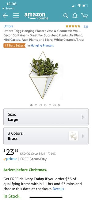 3 Planter vase/Wall decor for Sale in Seattle, WA