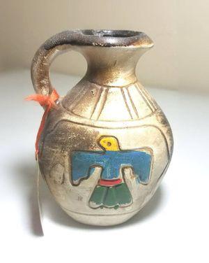 Vintage Native American Wedding Vessel/Vase Navajo Pueblo Pitcher Hand Painted for Sale in Village, OK