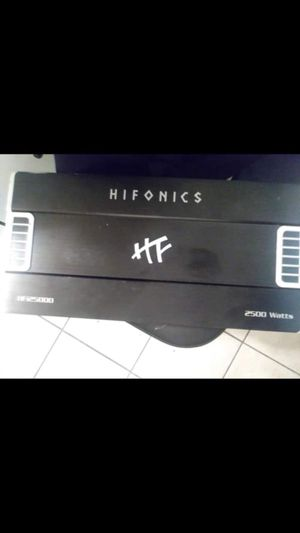 Hifonics Amp 2500 watts PRICE IS FIRM ‼️‼️‼️NO LOW BALLERS 😁‼️‼️PICK UP IN SOUTHGATE for Sale in South Gate, CA