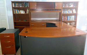Office desk and bookshelves set for Sale in Madisonville, KY