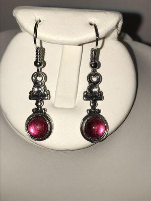 Pink moonstone in silver earrings for Sale in Longwood, FL