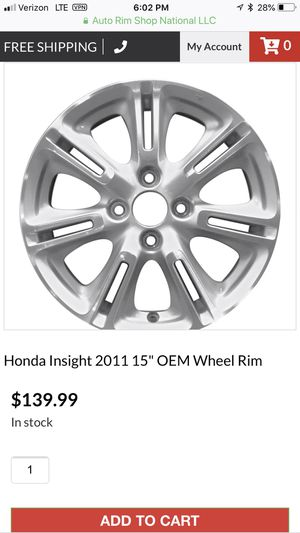 2011 Honda Insight OEM wheels and tires (4) for Sale in Vacaville, CA