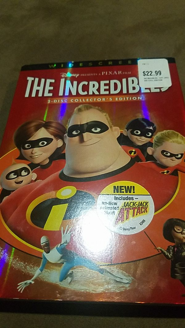 THE INCREDIBLES 2-DISK COLLECTORS EDITION!