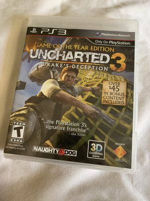Uncharted ps3 game for Sale in Chino, CA