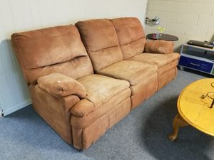 Reclining sofa couch for Sale in Tulsa, OK